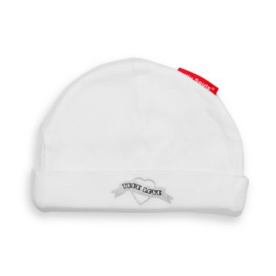 Silly Souls® True Love Size 12 months Beanie in White