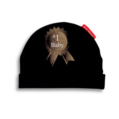 Silly Souls® #1 Baby Size 12 months Beanie in Black