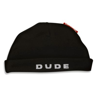 Silly Souls® Size Newborn-6 months Dude Beanie in Black