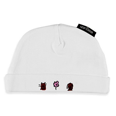 Silly Souls® Case of the Cutes Size Newborn-6 months Beanie in White