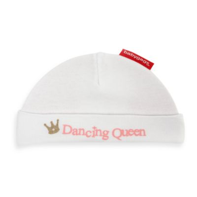 Silly Souls® Dancing Queen Size Newborn-6 months Beanie in White