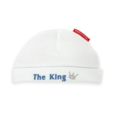 Silly Souls® Size 12 Months The King: Born to Rule Your Life White Beanie