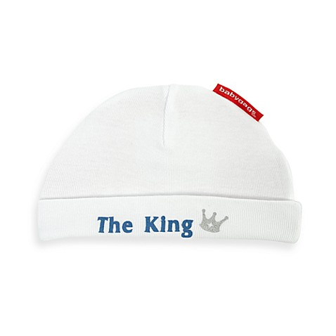 Silly Souls® Size Newborn to 6 Months The King: Born to Rule Your Life White Beanie