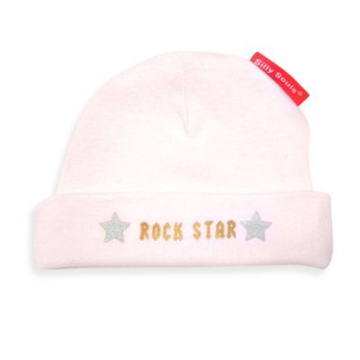 Silly Souls® Rock Star Size Newborn-6 months Ball Cap in Pink