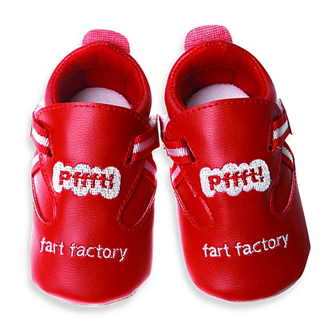 Silly Souls® Fart Factory Shoes 18-24 months (Red)