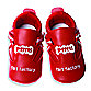 Silly Souls® Fart Factory Size 6-12 months Shoes in Red