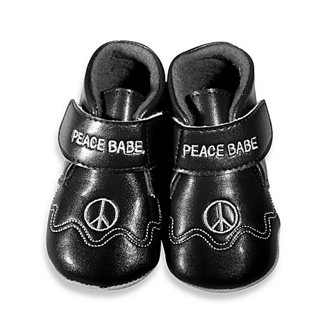 Silly Souls® Peace Size 0-6 months Shoes in Black