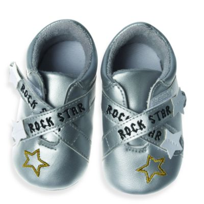 Silly Souls® Rock Star Size Newborn-6 months Shoes in Silver