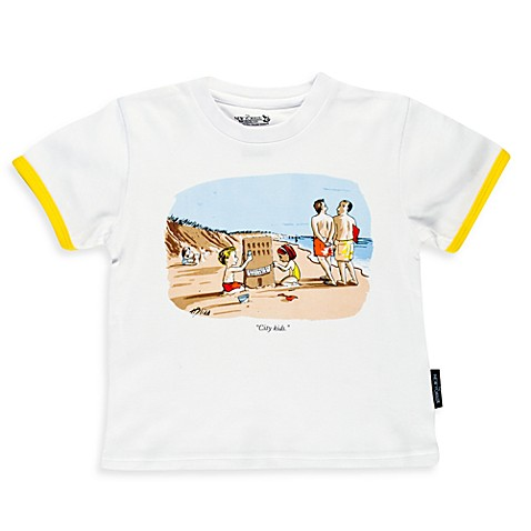Silly Souls® City Kids Size 2T T-Shirt in White with Yellow Trim