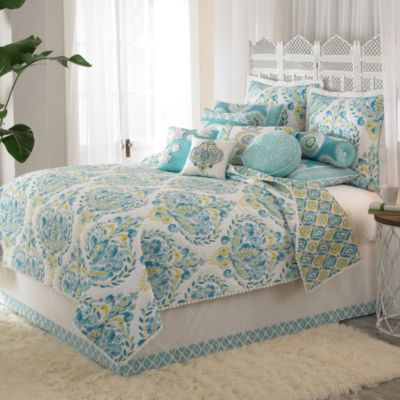 Dena™ Home Breeze Full Bed Skirt in White/Blue