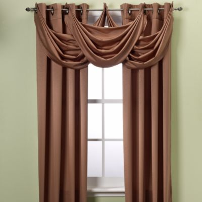 Insola® Odyssey Insulating Waterfall Window Valance in Café