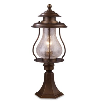 Wikshire Post-Mount Outdoor Light With Coffee Bronze Finish