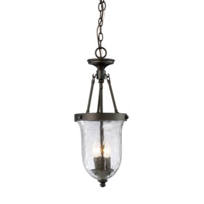 Elk Lighting Yorkville 3-Light Lantern in Oiled Bronze