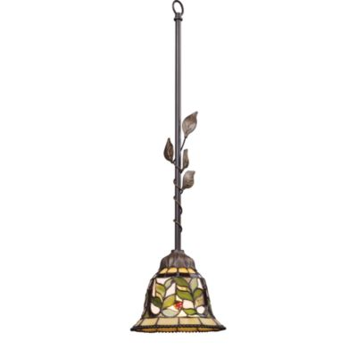 ELK Lighting Latham 1-Light Art Glass Pendant Finished in Tiffany Bronze