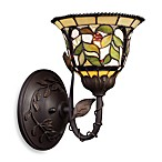 ELK Lighting Latham Tiffany 1-Light Sconce With Tiffany-Style Glass Shade in Bronze Finish