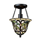 Latham Semi-Flush Ceiling Light in Tiffany Bronze