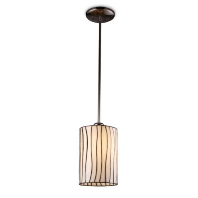 ELK Lighting Lineas 1-Light Pendant Ceiling Lamp in Black Chrome