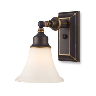 Aged Bronze 1-Light Sconce From the Lurray Collection