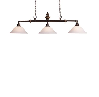 Lurray Billiard/Island 3-Light Fixture With Aged Bronze Finish