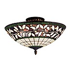 ELK Lighting English Ivy 3-Light Semi-Flush Fixture Finished in Tiffany Bronze