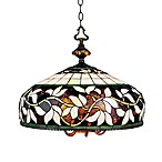 ELK Lighting 6-Light English Ivy Art Glass Pendant With Tiffany Bronze Finish
