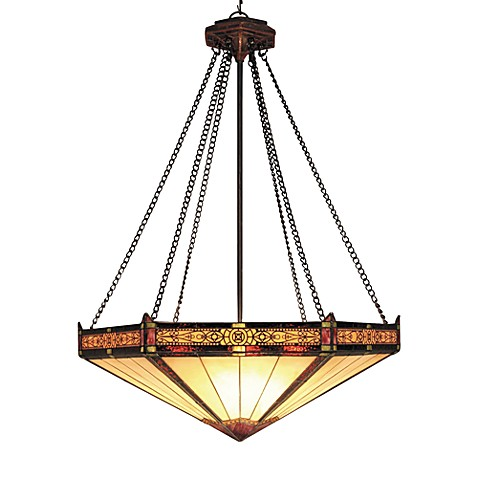 ELK Lighting Filigree and Glass 3-Light Pendant Finished in Aged Bronze