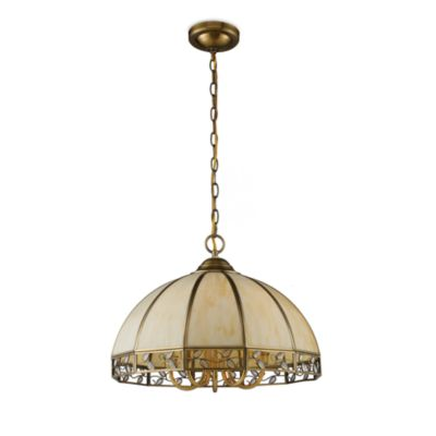 ELK Lighting Gerard 5-Light Solid Brass Chandelier With Cream Shade