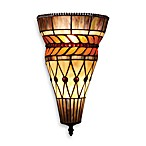 Elk Lighting 2-Light Art Glass Leaf Sconce Finished in Tiffany Bronze