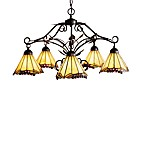 Wrought Iron 5-Light Grape Trellis Chandelier