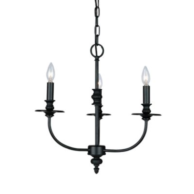 Hartford Collection Oil-Rubbed 3-Light Chandelier