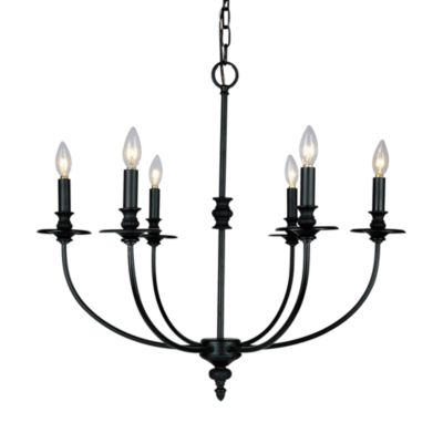 ELK Lighting Hartford 6-Light Candle Chandelier Finished in Oil-Rubbed Bronze