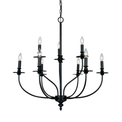 ELK Lighting Hartford 9-Light Chandelier Finished in Oil-Rubbed Bronze
