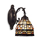 Elk Lighting Jewelstone 1-Light Tiffany-Style Sconce Finished in Classic Bronze