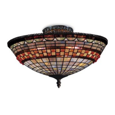 Jewelstone 8-Inch Semi-Flush Fixture with 3-Lights
