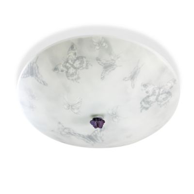 Kidshine Semi-Flush Light With Silkscreened Butterflies