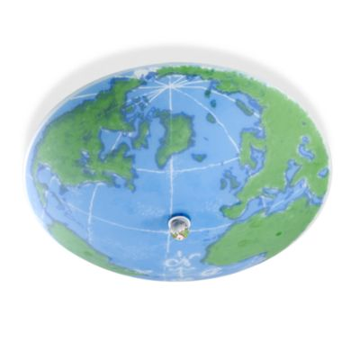 Kidshine World Map Semi-Flush Fixture with 3-Lights
