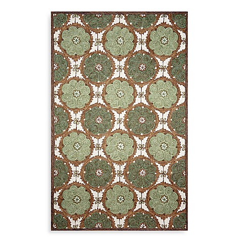 Trans Ocean Lakai Circles 7-Foot 6-Inch x 9-Foot 6-Inch Room Size Rug in Green