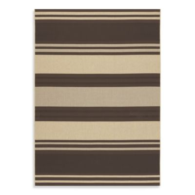 Couristan® Five Season South Padre 5-Foot 1-Inch x 9-Foot Indoor/Outdoor Rug in Chocolate/Cream