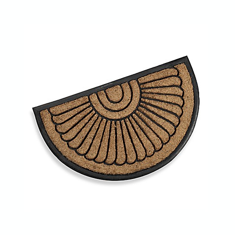 Koko Peacock Fan Rubber Doormat