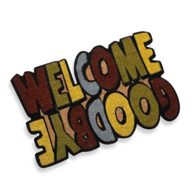 Welcome/Goodbye Door Mat