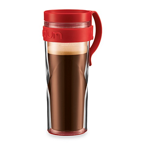 Bodum® H2O Travel 15-Ounce Mug with Clip in Red