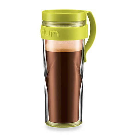Bodum® H2O Travel 15-Ounce Mug with Clip in Green
