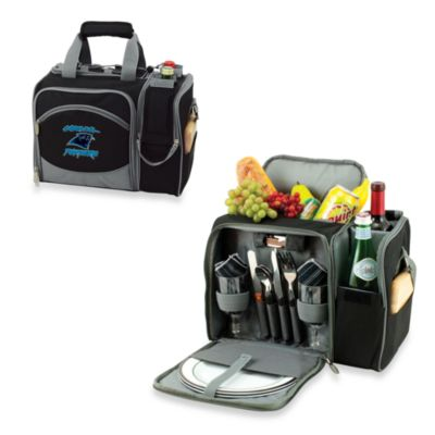 Picnic Time® Malibu Insulated Cooler/Picnic Basket in Carolina Panthers