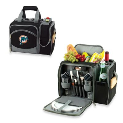 Picnic Time® Malibu Insulated Cooler/Picnic Basket in Miami Dolphins