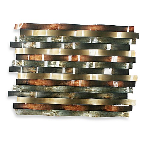 Ribbon Metal Wall Decor