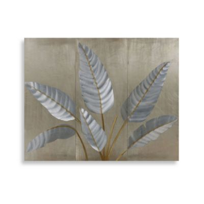 Metallic Leaves Wall Art