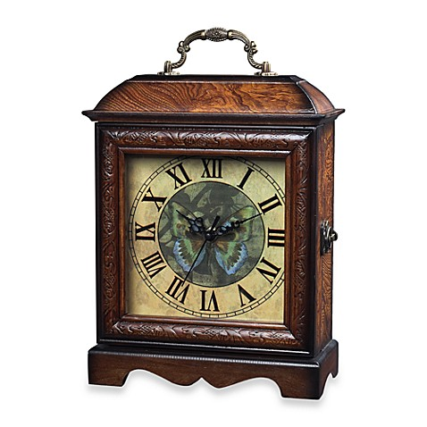 Green Butterfly Table Clock