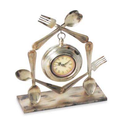Utensil Table Clock