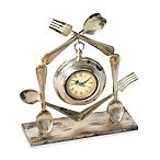 Utensil Table Clock