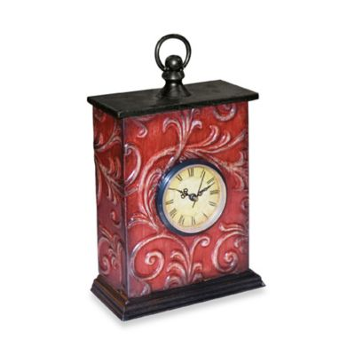 Embossed Vine Table Clock